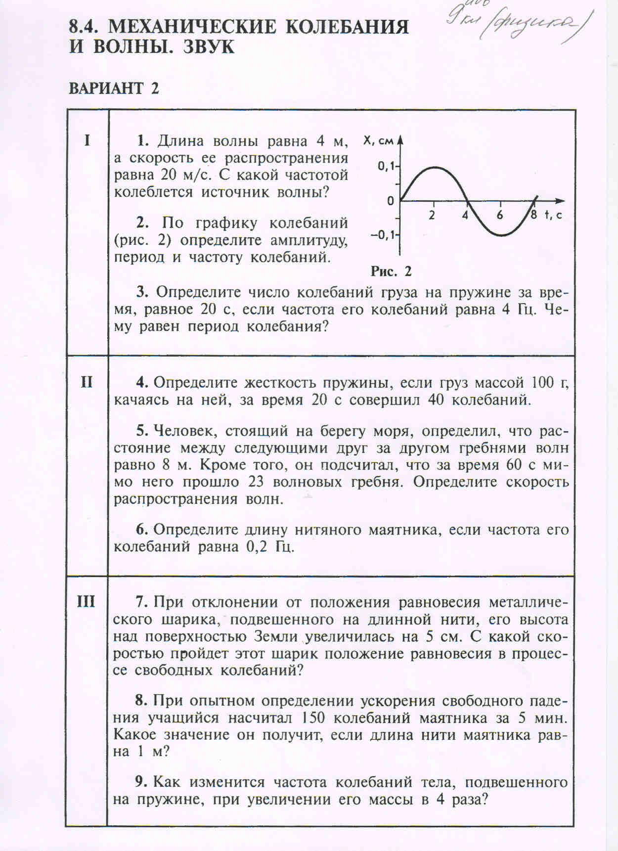 Не теряйте времени зря ДОМАШНИЕ ЗАДАНИЯ С по февраля  Физика §34 41 повторить формулы и определения главы 2 Механические колебания и волны смотреть решения задач для подготовки к контрольной работе по